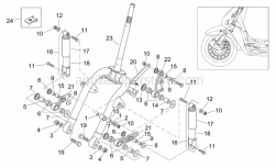 Frame - Front Shock Absorber - Aprilia - Brake caliper plate