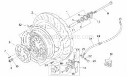 Frame - Front Wheel - Aprilia - Screw w/ flange
