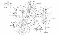 Frame - Fuel Tank - Aprilia - Screw w/ flange M5x25SUPERSEDED BY 855799