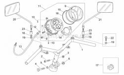 Frame - Handlebar - Dashboard - Aprilia - Lighting shield