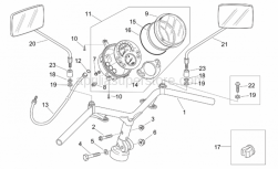 Frame - Handlebar - Dashboard - Aprilia - Mirror connecting washer