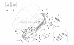 Frame - Helmet Compartment - Aprilia - Screw w/ flange M5x25SUPERSEDED BY 855799