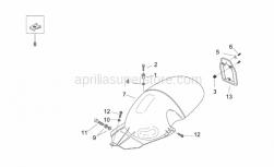 Frame - Rear Body Iv - Aprilia - Screw w/ flange M5x25SUPERSEDED BY 855799