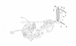 Frame - Rear Shock Absorber - Aprilia - Screw