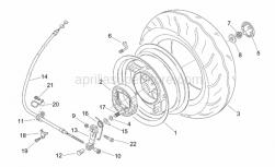 Frame - Rear Wheel - Aprilia - Brake cable retainer