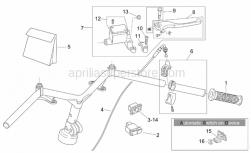 Frame - Rh Controls - Aprilia - Lever pin cpl.