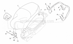 Frame - Saddle - Handle - Aprilia - Saddle hinge