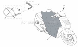 Genuine Aprilia Accessories - Acc. - Various - Aprilia - Key support B.Guard I-E