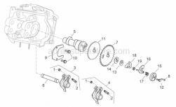 Engine - Camshaft - Aprilia - Rocker arms axis