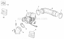 Engine - Carburettor I - Aprilia - Screw w/ flange M6x25