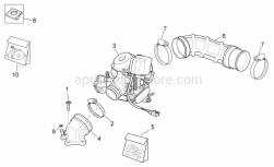 Engine - Carburettor I - Aprilia - Hose clip D8x5,5*