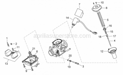 Engine - Carburettor II - Aprilia - Adj.min.eng.speed air screw