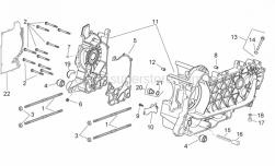 Engine - Crankcase - Aprilia - Pin d.9,5 h=15