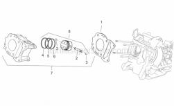 Engine - Cylinder - Aprilia - Cylinder base gasket 0,8