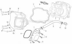 Engine - Oil Breather Valve - Aprilia - Screw w/ flange M6x30