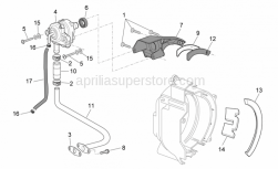 Engine - Secondary Air - Aprilia - Hose union
