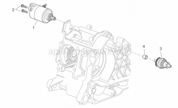 Engine - Starter Motor I - Aprilia - Screw w/ flange