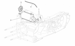 Engine - Starter Motor Ii - Aprilia - Screw w/ flange