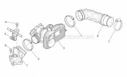 Engine - Throttle Body - Aprilia - Hose clip D8x5,5*