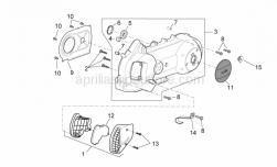Engine - Variator Cover - Aprilia - Air deflector