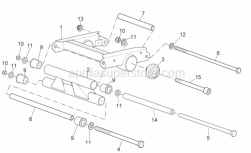 Frame - Connecting Rod - Aprilia - ENGINE CONNECTING ELEMENT