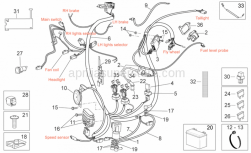 Frame - Electrical System - Aprilia - Relay-starter motor cable