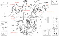 Frame - Electrical System - Aprilia - Scr. sparkplug cap