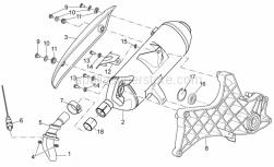 Frame - Exhaust Unit - Aprilia - Nut