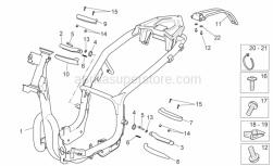 Frame - Frame - Aprilia - Phillips screw, SWP M5x20
