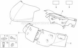Frame - Front Body - Front Fairing - Aprilia - PLANCIA CRUSC.V.NERO MO.N/DEC