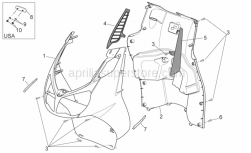 Frame - Front Body - Internal Shield - Aprilia - Internal shield, black SUPERSEDED BY AP8184258