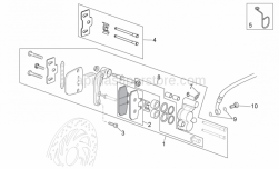 Frame - Front Caliper I - Aprilia - Hex socket screw M8x30