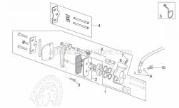 Frame - Front Caliper I - Aprilia - Cable-guide
