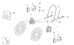 Frame - Front Caliper II - Aprilia - Pins+Caliper springs