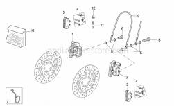Frame - Front Caliper Ii - Aprilia - Cable-guide