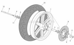Frame - Front Wheel - Aprilia - Front tyre 120-70 15