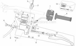 Frame - Lh Controls - Aprilia - Tank cover, assy