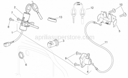 Frame - Lock Hardware Kit - Aprilia - FRONT BOX LOCK