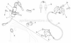 Frame - Lock Hardware Kit - Aprilia - Saddle closing plate
