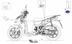 Frame - Plate Set And Handbooks - Aprilia - L.LH UNDERSADDLE, BLACK