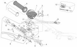 Frame - Rh Controls - Aprilia - Lever assy