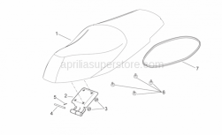 Frame - Saddle Unit - Aprilia - Front saddle support rubber
