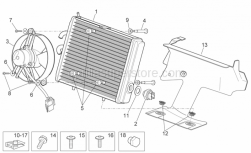 Frame - Water Cooler - Aprilia - Screw w/ flange