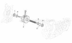 Engine - Drive Shaft - Aprilia - CRANKSHAFT CAT 2