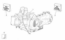 Engine - Engine - Aprilia - (D) ENG.300 4T4V E3 AP.S.CITY MY'08XRIC.