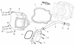 Engine - Oil Breather Valve - Aprilia - Cylinder head cover