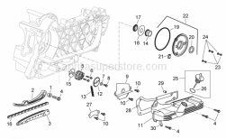 Engine - Oil Pump - Aprilia - Timing system cover