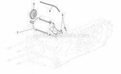 Engine - Starter Motor - Aprilia - Screw w/ flange M6x25