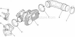 Engine - Throttle Body - Aprilia - THROTTLE BODY WITH E.C.U.