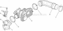 Engine - Throttle Body - Aprilia - FUEL JNIECTOR WITH SUPPORT ASSEMBLY